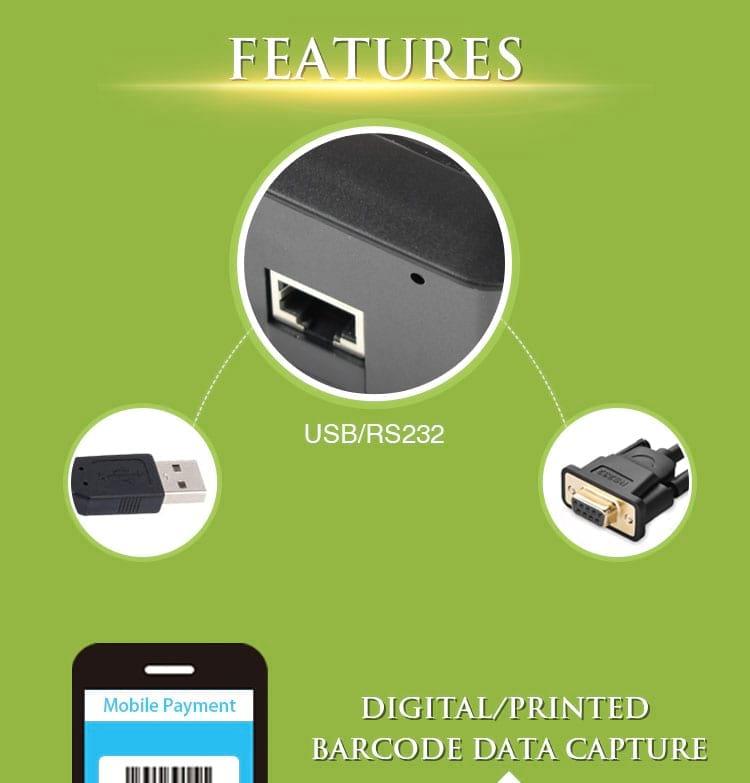 2D Barcode Scanner / Qr Code Scanner Usb for mobile screen