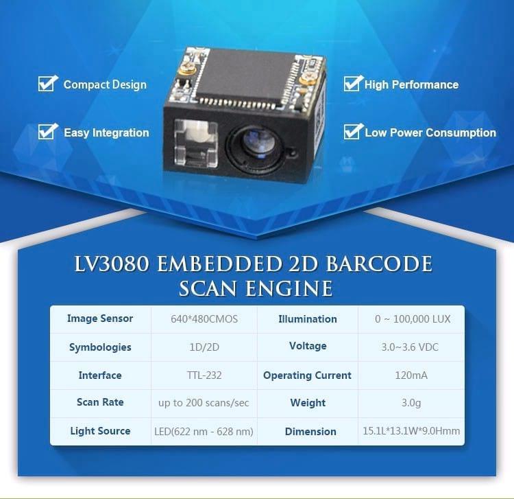 LV3080 Raspberry PI Barcode Scanner