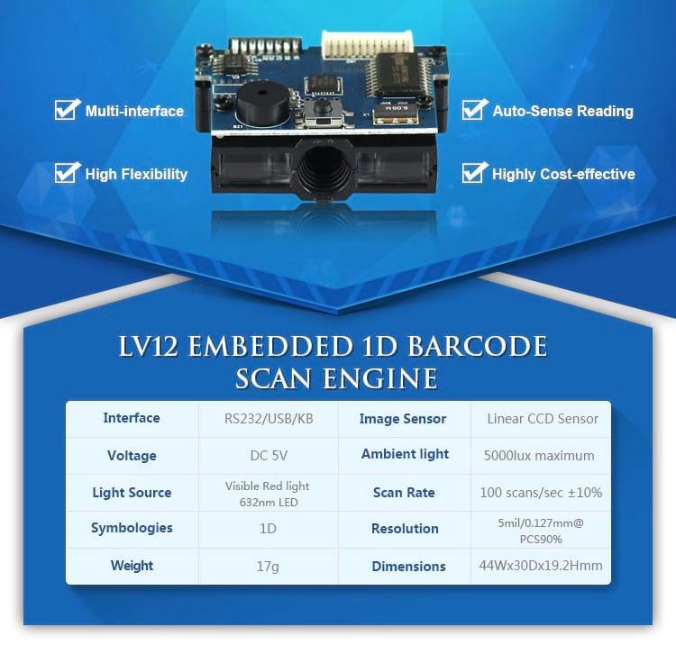 Barcode Reader Module -1D CCD Barcode Scanner Module