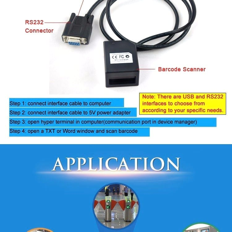 CCD Barcode Scanner - 1D CCD Barcode Scanner for Kiosk