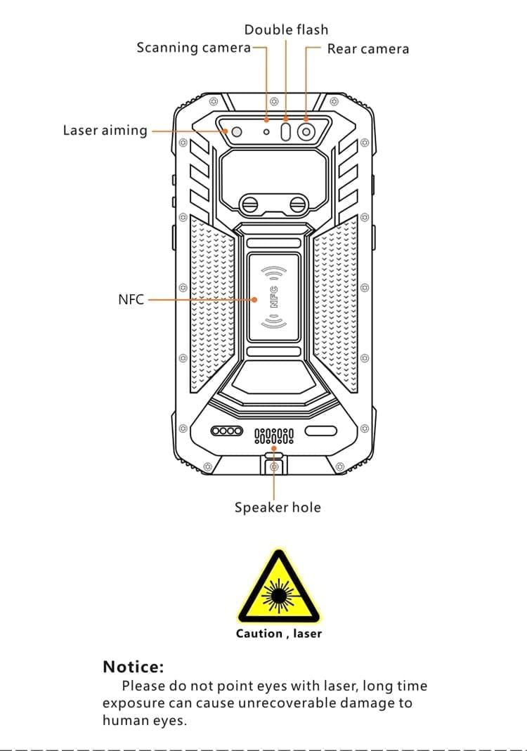 handheld pda reader 2D Barcode scanner pda barcode scanner handheld terminal Industrial Android PDA