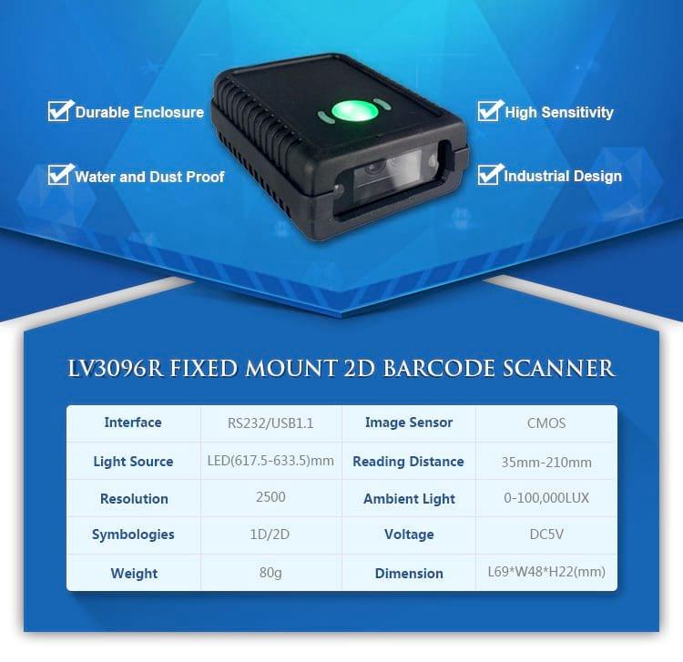 LV3096R QR Scanner module