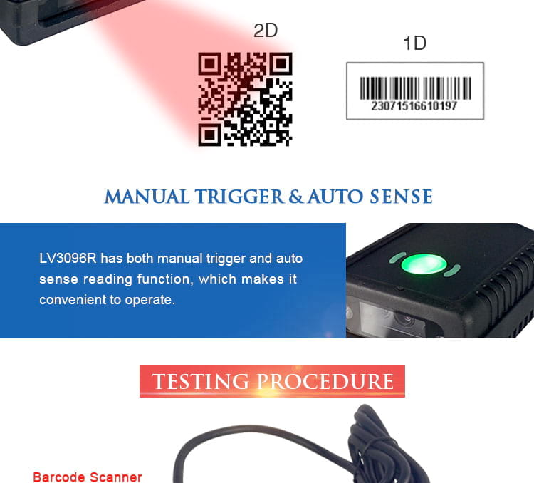 QR Scanner module used for self-service machine