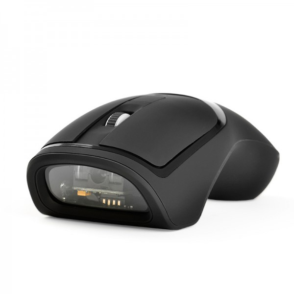 Wireless Mouse 1D Barcode Scanner With Bluetooth USB Connect