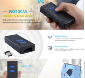 2.4G & Bluetooth Handheld Mini Barcode Scanner